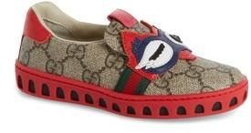 Gucci Toddler Girl's Gg Supreme Slip-On Owl Sneaker