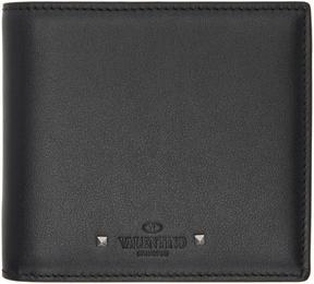 Valentino Black Garavani Mini Studs Wallet
