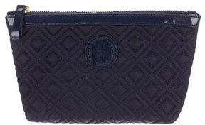 Tory Burch Leather-Trimmed Nylon Cosmetic Bag