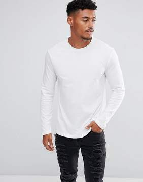 New Look Long Sleeve Top In White