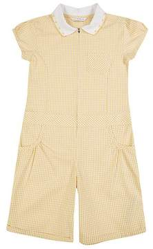 Marks and Spencer Checked Pure Cotton Playsuit (2-14 Years)