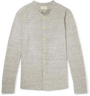 Oliver Spencer Victory Slim-Fit Grandad-Collar Cotton Overshirt