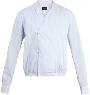 Giorgio Armani Pinstriped cotton-blend jacket