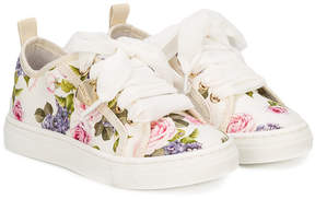 MonnaLisa floral lace-up sneakers