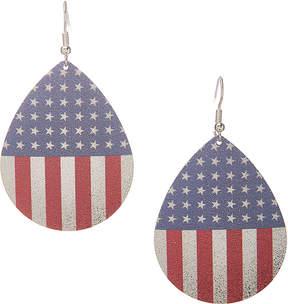 Carole Stars & Stripes Oversize Teardrop Earrings