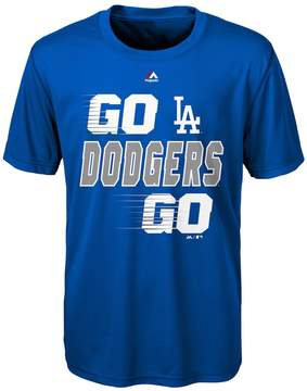 Majestic Boys 8-20 Los Angeles Dodgers Double Header Cool Base Tee