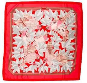 Hermes Les Perroquets Silk Scarf