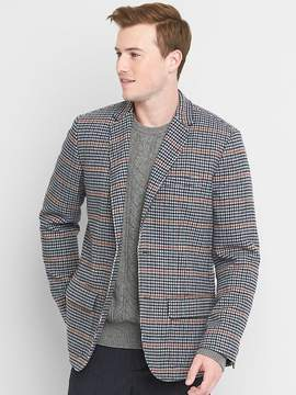 Gap Wool blend houndstooth suit jacket