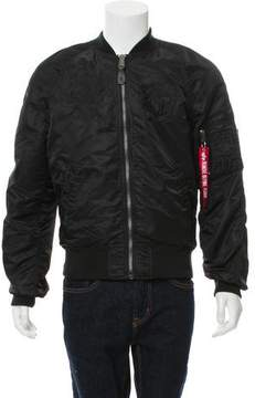 Alpha Industries Embroidered Reversible Bomber Jacket