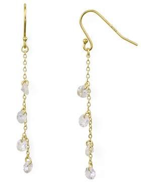 Aqua Linear Chain Drop Earrings - 100% Exclusive