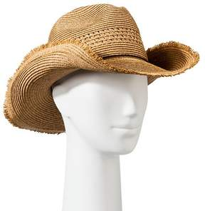 Mossimo Women's Straw Cowboy Hat with Knot Tie Sash - Tan