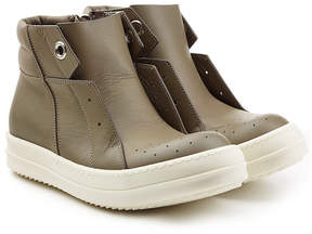 Rick Owens Leather Island Dunk Sneakers