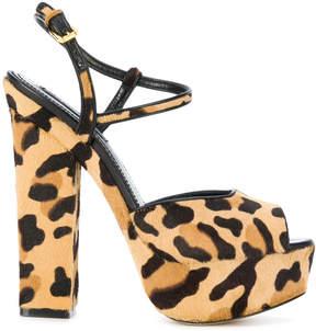 DSQUARED2 leopard print Ziggy sandals