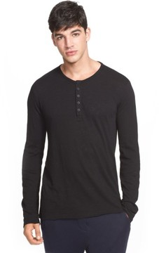 ATM Anthony Thomas Melillo Men's Raw Edge Henley