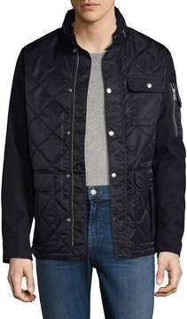 Armani Exchange Men's Quilted Caban Coat