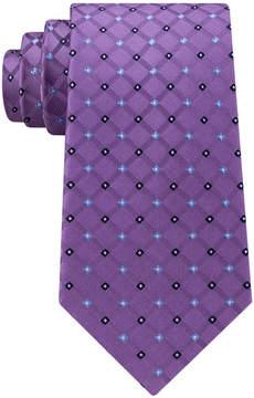 Club Room Men's Diamond Silk Tie, Created for Macy's