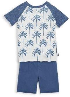 Splendid Baby's, Toddler's& Little Boy's Two Piece Raglan Tee& Shorts Set
