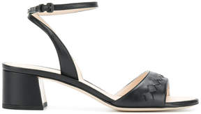 Bottega Veneta woven detail ankle strap sandals