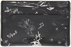 Lanvin Black Landscape Card Holder