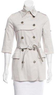 Doo.Ri Three-Quarter Sleeve Trench Coat
