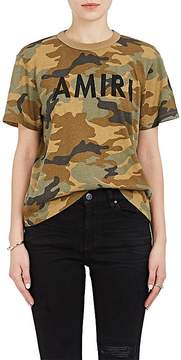 Amiri Women's Camouflage Cotton Logo T-Shirt