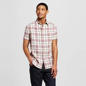Mossimo Men's Button Down Short Sleeve Plaid Shirt