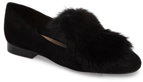 Donald J Pliner Women's Lillian Genuine Rabbit Fur Loafer