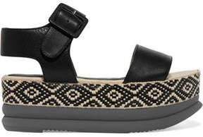 Paloma Barceló Talia Leather Espadrille Sandals