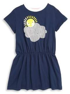 Fendi Little Girl's and Girl's Cotton Gathered Dress