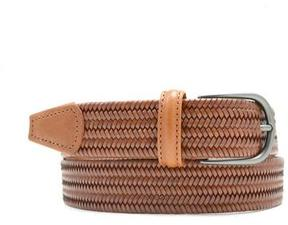 Andersons Anderson's Light Brown Woven Leather Belt
