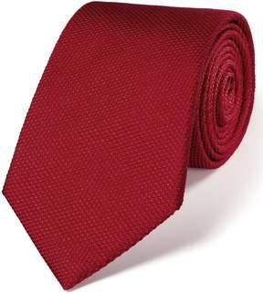 Charles Tyrwhitt Dark Red Silk Plain Classic Tie