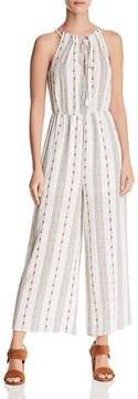 Aqua Floral Striped Wide-Leg Jumpsuit - 100% Exclusive