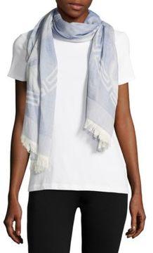 Versace Wool-Blend Logo-Print Scarf