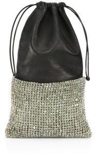 Alexander Wang Ryan Leather & Crystal Dustbag