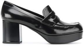 Prada platform loafers