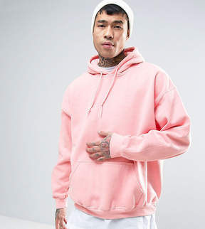 Reclaimed Vintage Inspired Oversized Hoodie In Pink Overdye