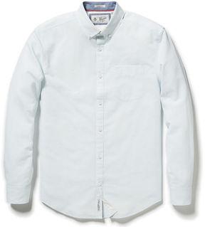 Original Penguin Classic Fit Slub Linen Feeder Stripe Shirt