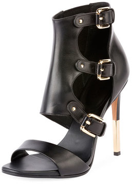 Balmain Alienor 100mm Buckle Sandal, Black