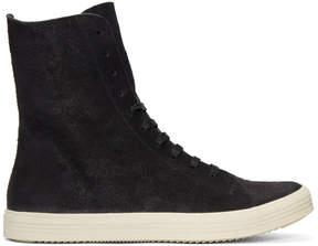 Rick Owens Black Mastodon High-Top Sneakers