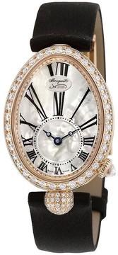 Breguet Reine de Naples Mother of Pearl Dial 18kt Rose Gold Black Satin Ladies Watch 8928BR51844DD0D