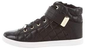 DKNY Quilted High-Top Sneakers
