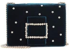 Roger Vivier Pilgrim Micro velvet shoulder bag