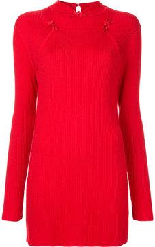 G.V.G.V. ribbed mandarin collar sweater