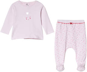 Absorba Pink Heart Print T-shirt and Bottoms Set