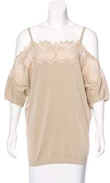 Agnona Embroidered Off-The-Shoulder Top w/ Tags
