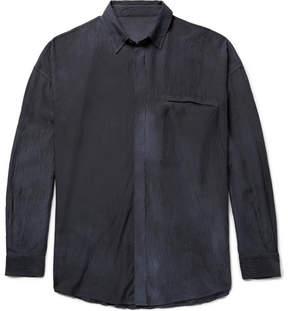 The Elder Statesman Oversized Hammered-Silk Shirt