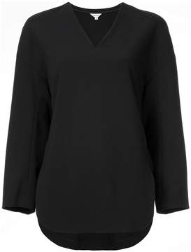 Enfold v-neck fitted blouse