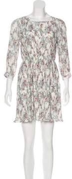 Anine Bing Pleated Floral Print Dress