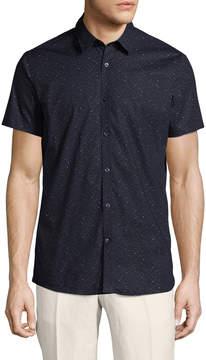 J. Lindeberg Men's Daniel Printed Sportshirt