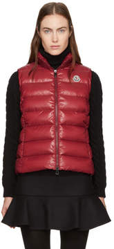 Moncler Red Down Ghany Vest